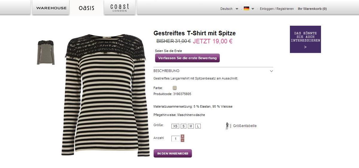 OasisStreifenShirt