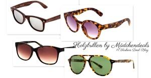 Hol sie dir jetzt: DIE Sonnenbrille in Holzoptik!